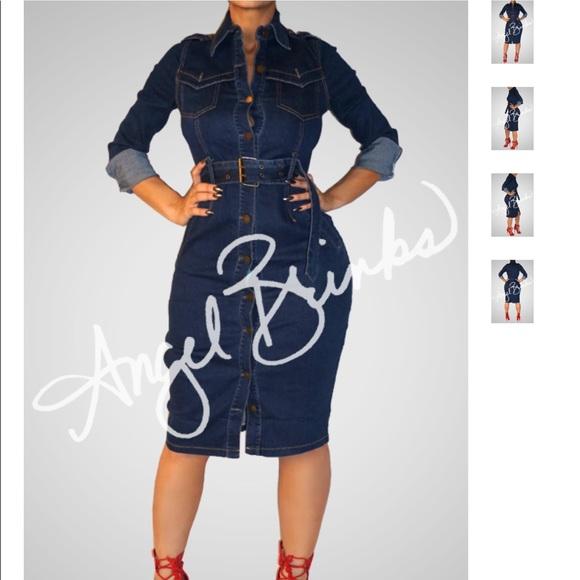 Angel Brinks Dresses | Plus Size Jean Dress | Poshmark
